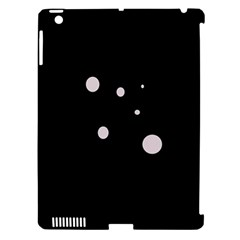 White dots Apple iPad 3/4 Hardshell Case (Compatible with Smart Cover)