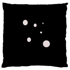 White dots Large Cushion Case (Two Sides)