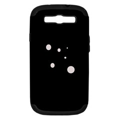 White dots Samsung Galaxy S III Hardshell Case (PC+Silicone)