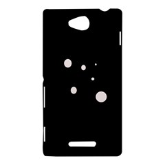 White dots Sony Xperia C (S39H)