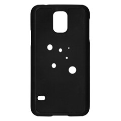 White dots Samsung Galaxy S5 Case (Black)