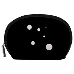 White dots Accessory Pouches (Large)