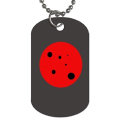 Red circle Dog Tag (Two Sides)