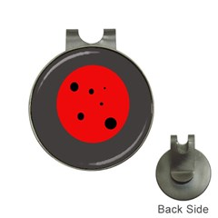 Red circle Hat Clips with Golf Markers