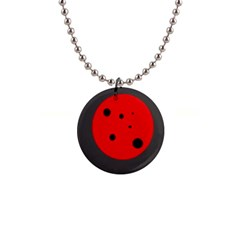 Red circle Button Necklaces
