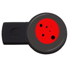 Red Circle Usb Flash Drive Round (4 Gb)