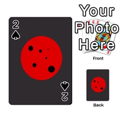 Red circle Playing Cards 54 Designs