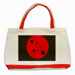 Red circle Classic Tote Bag (Red)