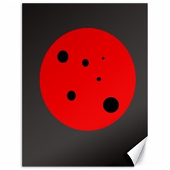 Red circle Canvas 18  x 24