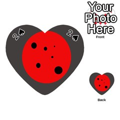 Red circle Playing Cards 54 (Heart)