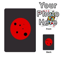 Red circle Multi-purpose Cards (Rectangle)