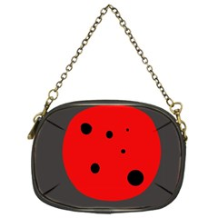 Red circle Chain Purses (One Side)