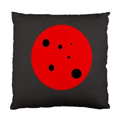 Red circle Standard Cushion Case (One Side)