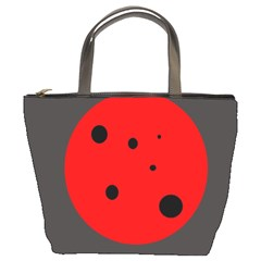 Red circle Bucket Bags
