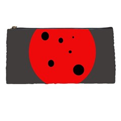Red circle Pencil Cases