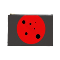 Red circle Cosmetic Bag (Large)