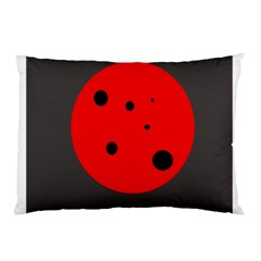 Red circle Pillow Case (Two Sides)