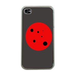 Red circle Apple iPhone 4 Case (Clear)