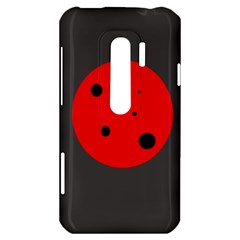 Red circle HTC Evo 3D Hardshell Case