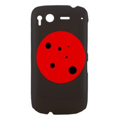 Red circle HTC Desire S Hardshell Case