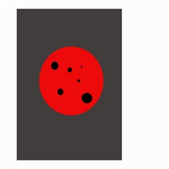Red circle Small Garden Flag (Two Sides)