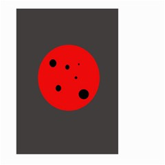 Red circle Large Garden Flag (Two Sides)