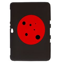 Red circle Samsung Galaxy Tab 8.9  P7300 Hardshell Case