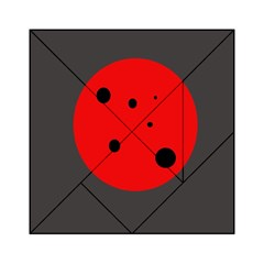 Red circle Acrylic Tangram Puzzle (6  x 6 )