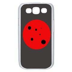 Red circle Samsung Galaxy S III Case (White)