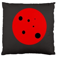 Red circle Large Cushion Case (One Side)