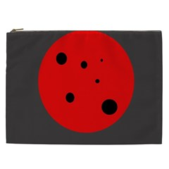 Red circle Cosmetic Bag (XXL)