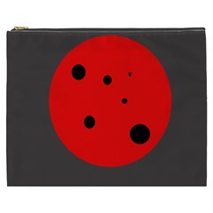 Red circle Cosmetic Bag (XXXL)