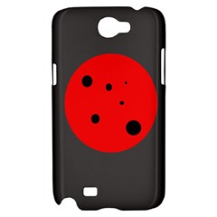 Red circle Samsung Galaxy Note 2 Hardshell Case