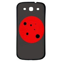 Red circle Samsung Galaxy S3 S III Classic Hardshell Back Case