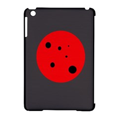 Red circle Apple iPad Mini Hardshell Case (Compatible with Smart Cover)