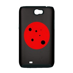 Red circle Samsung Galaxy Note 2 Hardshell Case (PC+Silicone)