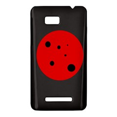 Red circle HTC One SU T528W Hardshell Case