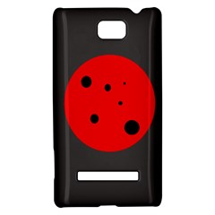 Red circle HTC 8S Hardshell Case
