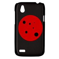 Red circle HTC Desire V (T328W) Hardshell Case