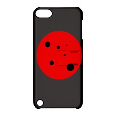 Red circle Apple iPod Touch 5 Hardshell Case with Stand