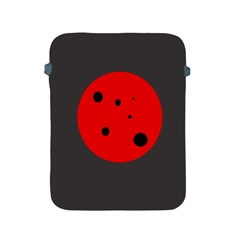 Red circle Apple iPad 2/3/4 Protective Soft Cases
