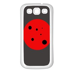 Red circle Samsung Galaxy S3 Back Case (White)