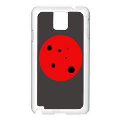 Red circle Samsung Galaxy Note 3 N9005 Case (White)