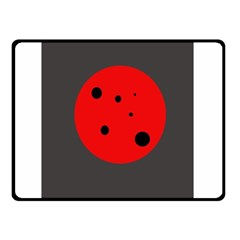 Red circle Double Sided Fleece Blanket (Small)
