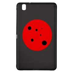 Red circle Samsung Galaxy Tab Pro 8.4 Hardshell Case