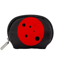 Red circle Accessory Pouches (Small)