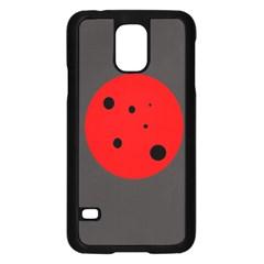 Red circle Samsung Galaxy S5 Case (Black)