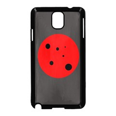 Red circle Samsung Galaxy Note 3 Neo Hardshell Case (Black)