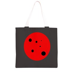 Red circle Grocery Light Tote Bag