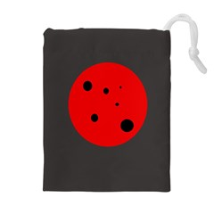 Red Circle Drawstring Pouches (extra Large)